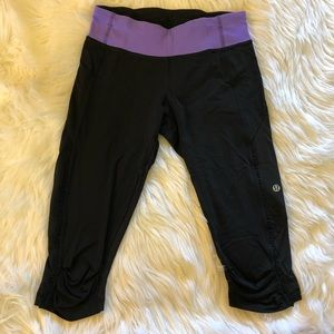 Lululemon • black and Purple tights